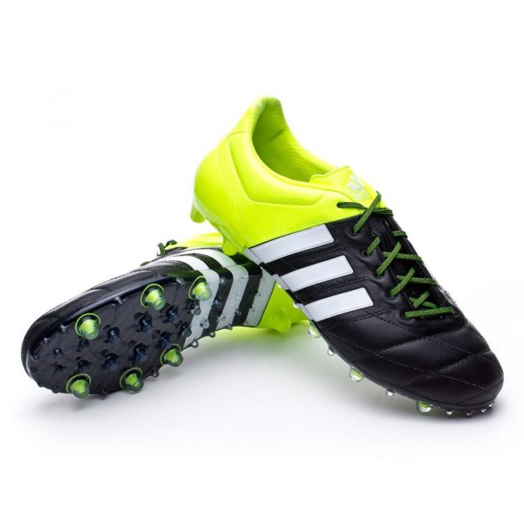 Bota de fútbol adidas Ace 15.1 FG AG Piel Solar yellow-White-Core ... 5eba2fae73a2f