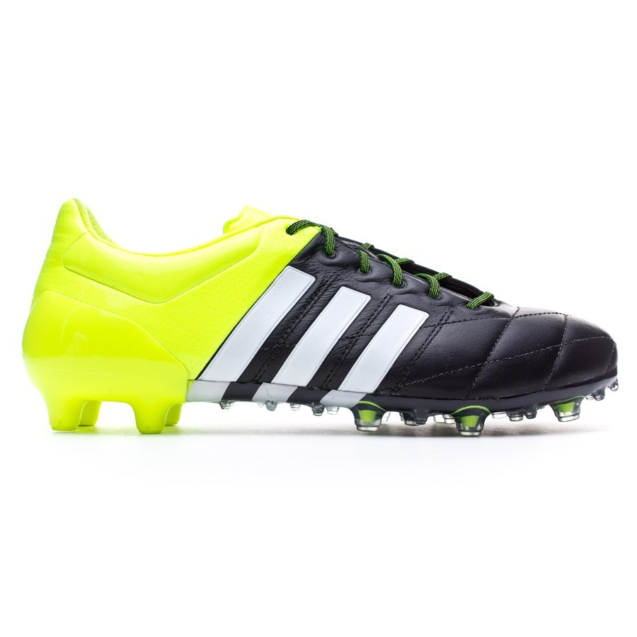 best loved ab8af d9381 Scarpe adidas Ace 15.1 FG AG Pelle Solar yellow-White-Core black - Negozio  di calcio Fútbol Emotion