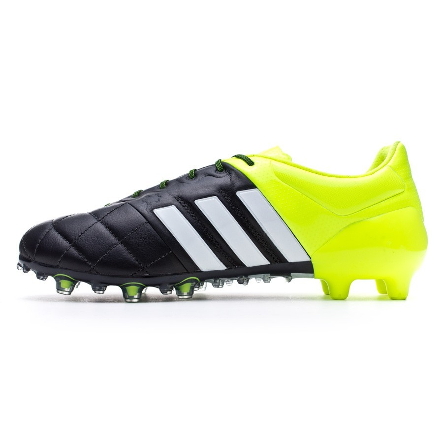 uk availability babbb 7128b Boot adidas Ace 15.1 FGAG Piel Solar yellow-White-Core black - Football  store Fútbol Emotion