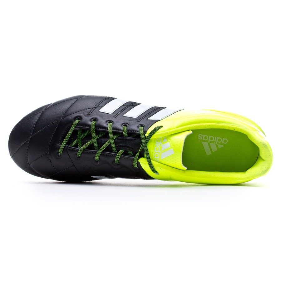 7db811b0a215 Football Boots adidas Ace 15.1 FG/AG Piel Solar yellow-White-Core black -  Football store Fútbol Emotion