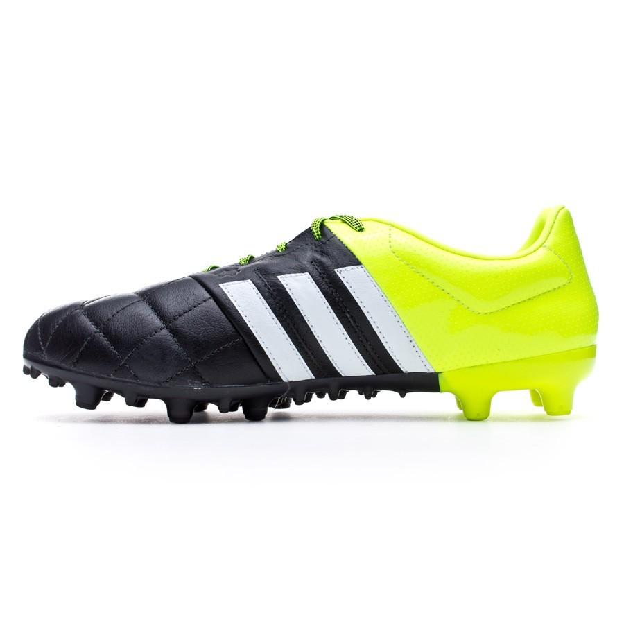 Bota de fútbol adidas Ace 15.3 FG AG Piel Solar yellow-White-Core ... 71cb405c73928