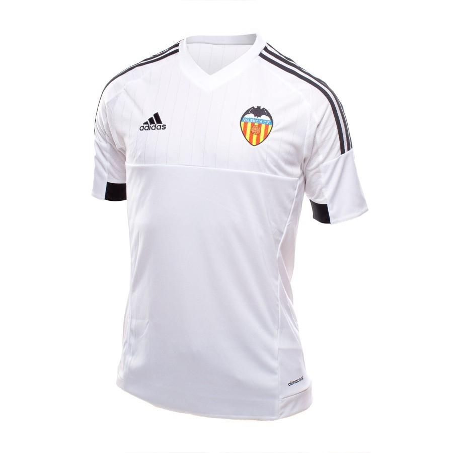 Camiseta adidas Valencia CF Primera Equipación 15-16 White-Black -  Soloporteros es ahora Fútbol Emotion 11a14b9085d5e