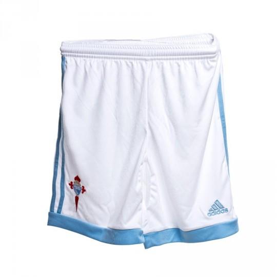 Pantalón corto  adidas RC Celta de Vigo Home 15-16 White-Clear blue