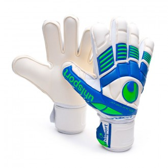 Guante  Uhlsport Eliminator Handbett Soft Blanco-Azul-Verde