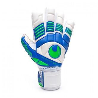 Glove  Uhlsport Eliminator Handbett Soft White-Blue-Green