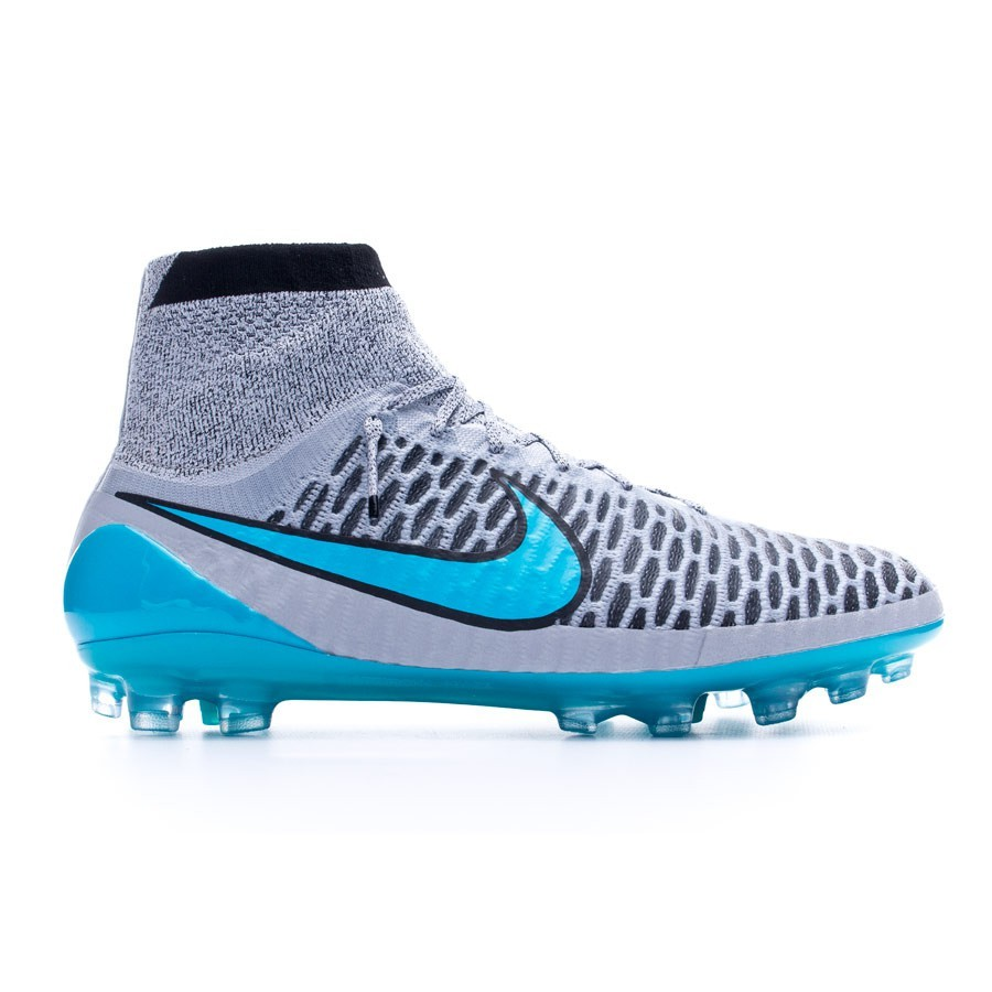 012a7daf2e02 Football Boots Nike Magista Obra ACC AG-R Wolf grey-Turquoise-Black -  Football store Fútbol Emotion