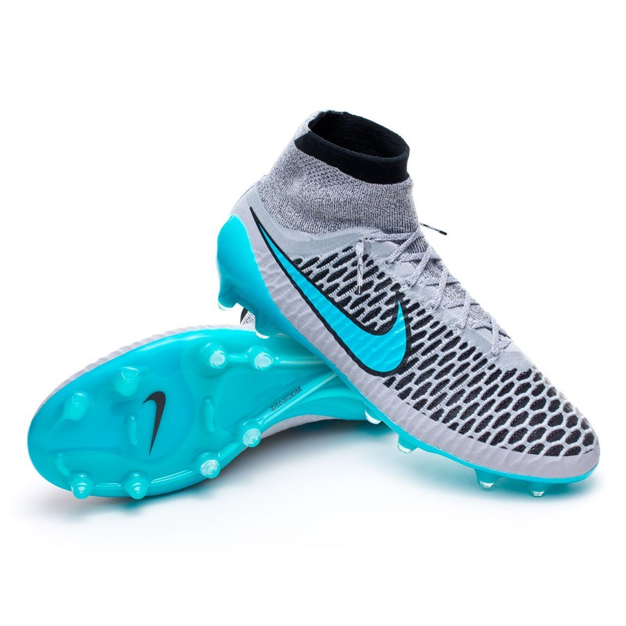 4435fc7575bb Nike Magista Obra ACC FG Football Boots. Wolf grey-Turquoise-Black ...
