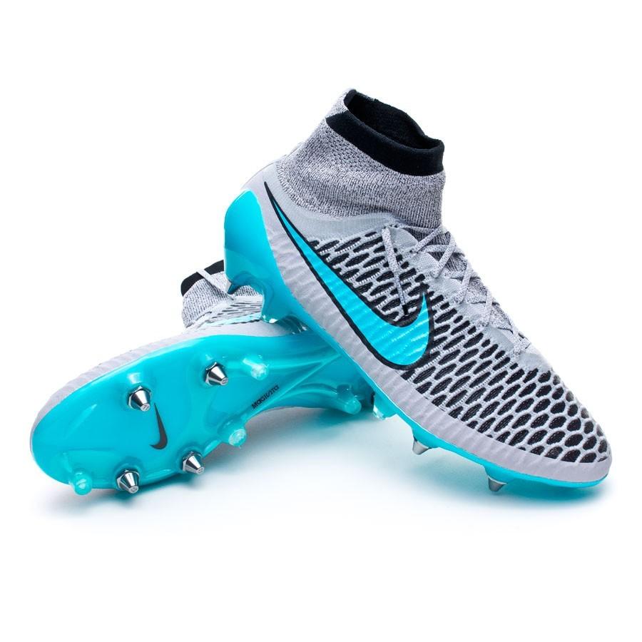 f4935fe64c0b Football Boots Nike Magista Obra ACC SG-Pro Wolf grey-Turquoise ...