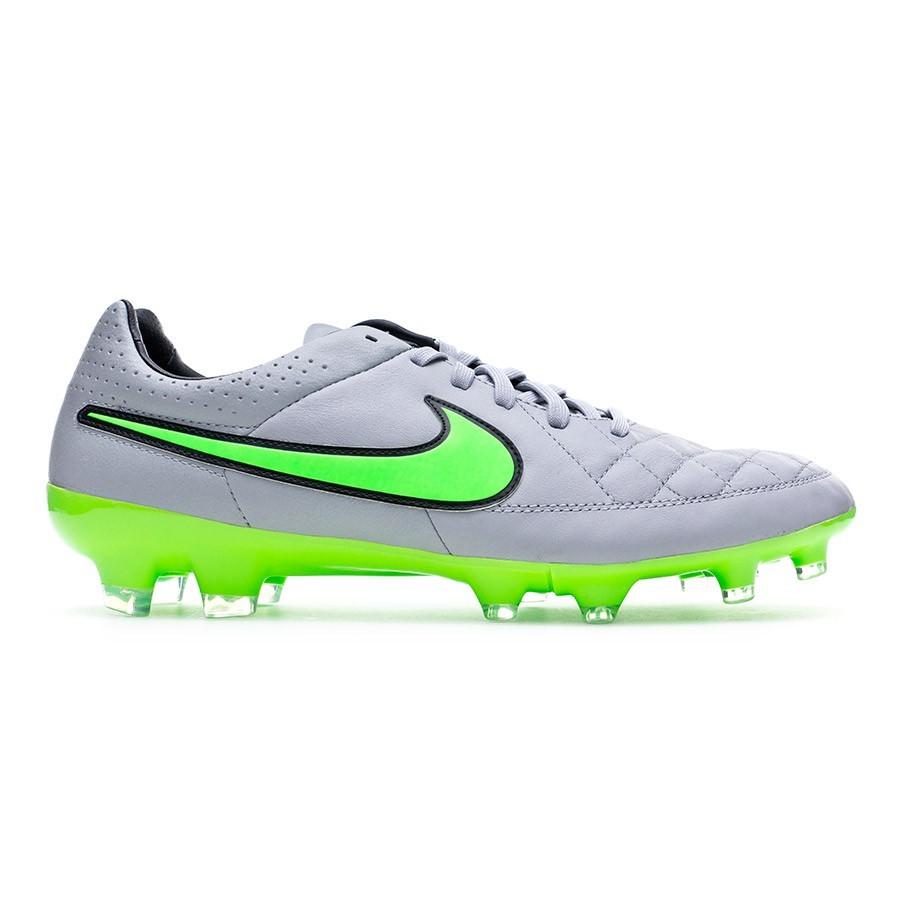 a1c13bd36ae Football Boots Nike Tiempo Legacy FG Wolf grey-Green strike-Black -  Football store Fútbol Emotion