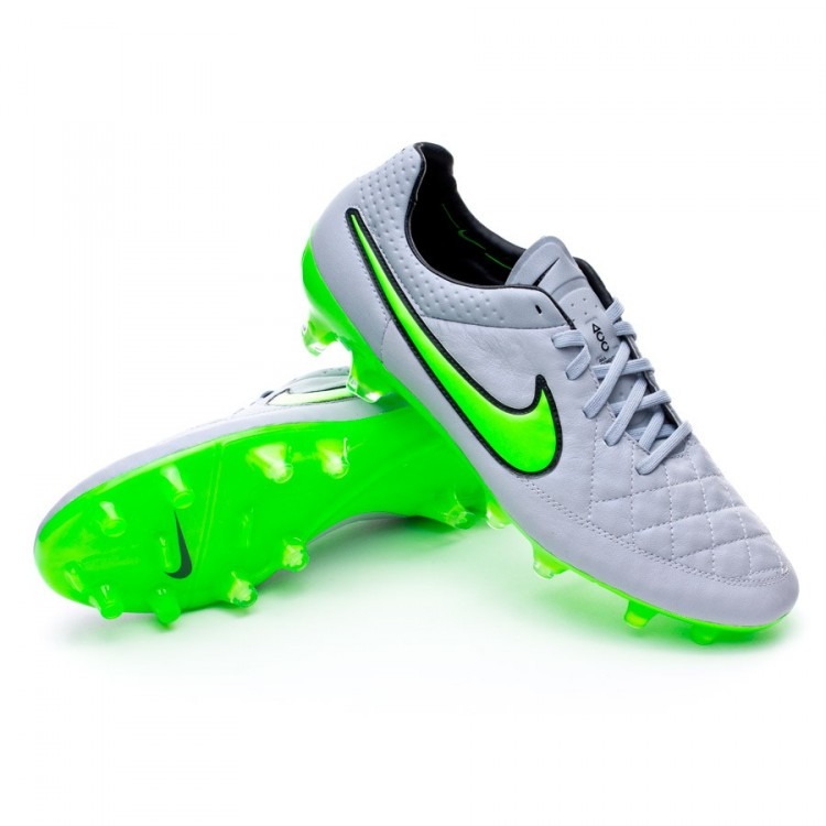 4682c579cc970 Zapatos de fútbol Nike Tiempo Legend V ACC FG Wolf grey-Green strike ...