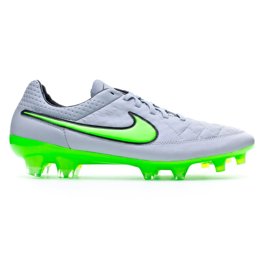 check out 3f7be 76cca Bota Tiempo Legend V ACC FG Wolf grey-Green strike-Black