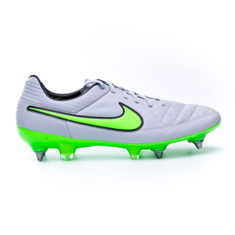 4c9c506cfc679 Football Boots Nike Tiempo Legend V ACC SG-Pro Wolf grey-Green strike-Black  - Football store Fútbol Emotion