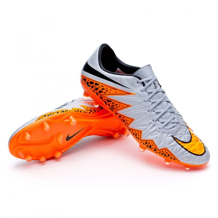644d282be Football Boots Nike Hypervenom Phinish ACC FG Wolf grey-Total orange ...