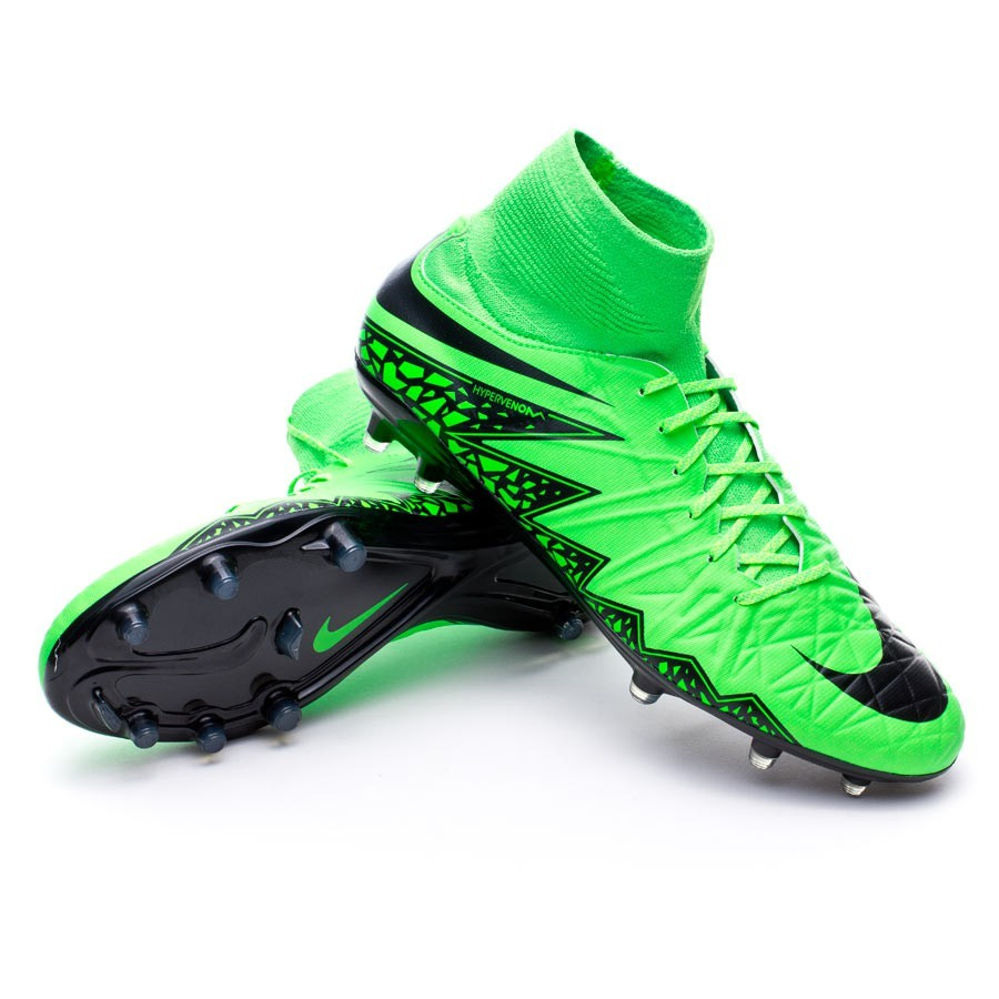 77f7562fd Football Boots Nike Hypervenom Phatal II Dynamic Fit FG Green strike ...