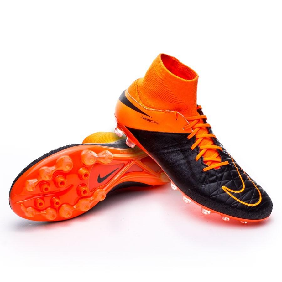 best authentic 029d1 8a625 Nike Hypervenom Phatal II Dynamic Fit Leather AG-R Boot. Black-Total orange  ...