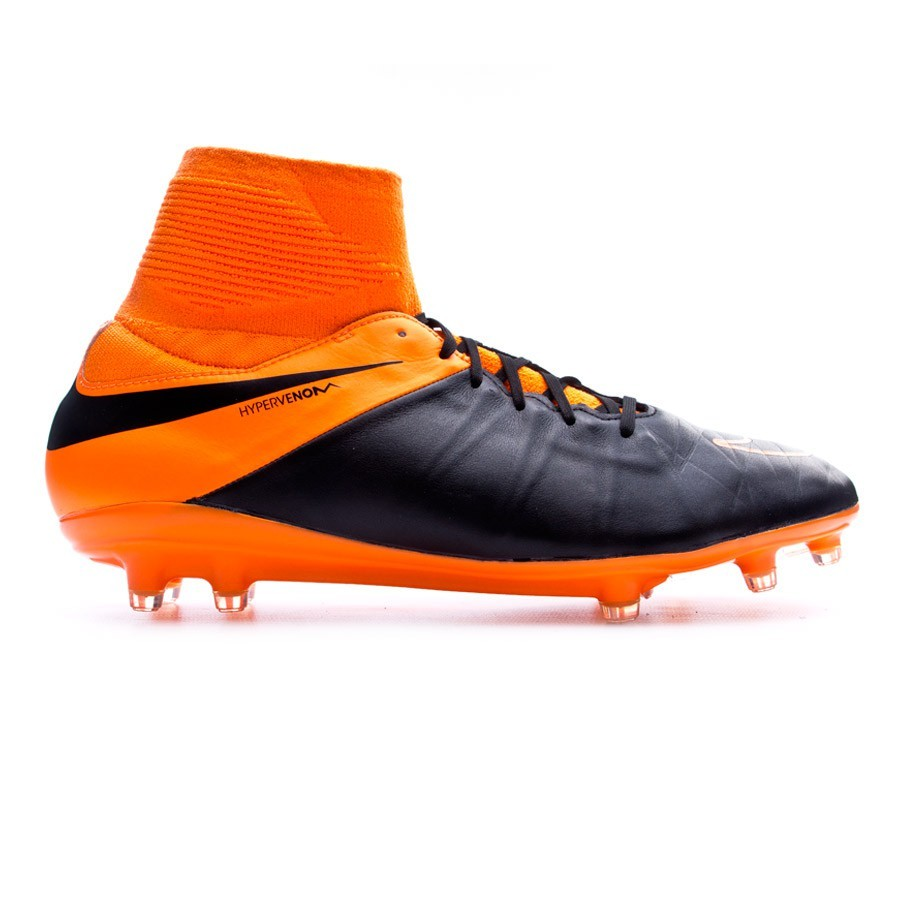 promo code 3df18 425e8 Chaussure de foot Nike Hypervenom Phatal II Dynamic Fit Tech Craft FG  Black-Total orange - Boutique de football Fútbol Emotion