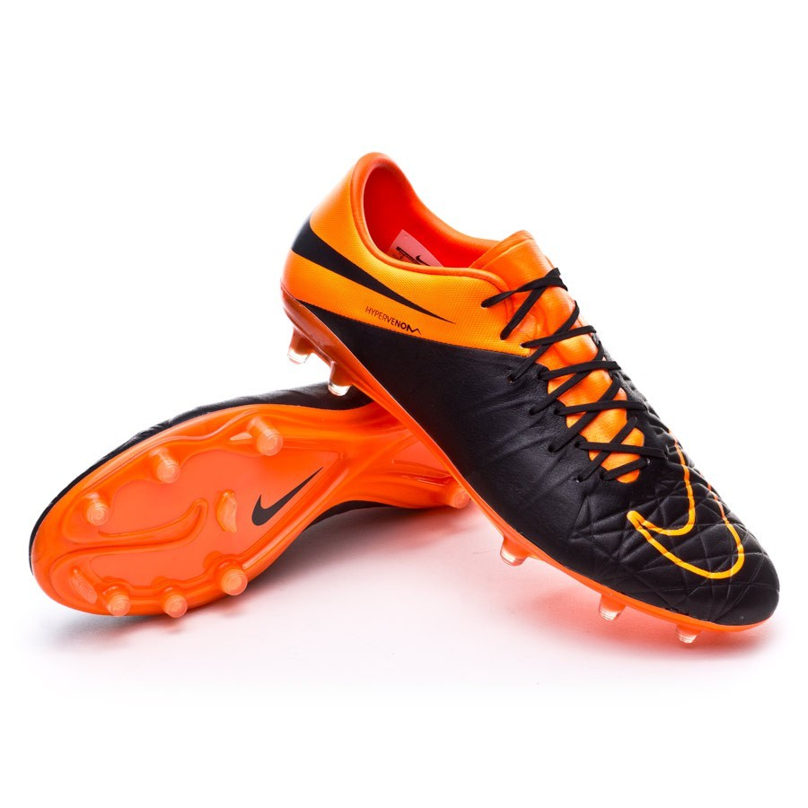 7eef8f120e27 Nike Hypervenom Phinish ACC Tech Craft FG Football Boots. Black-Total orange  ...