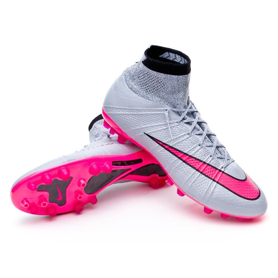 13457f955018 Football Boots Nike Mercurial Superfly ACC AG-R Wolf grey-Hyper pink ...