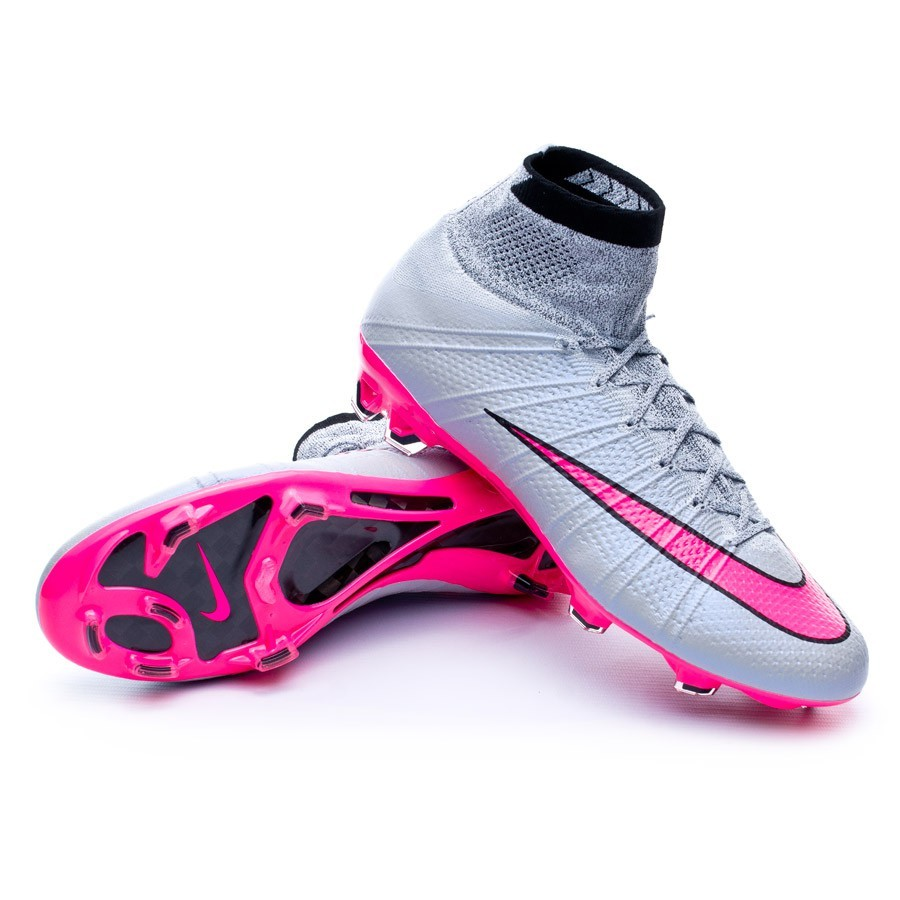 huge selection of ff0d2 24525 Nike Mercurial Superfly ACC FG Football Boots. Wolf grey-Hyper pink-Black  ...