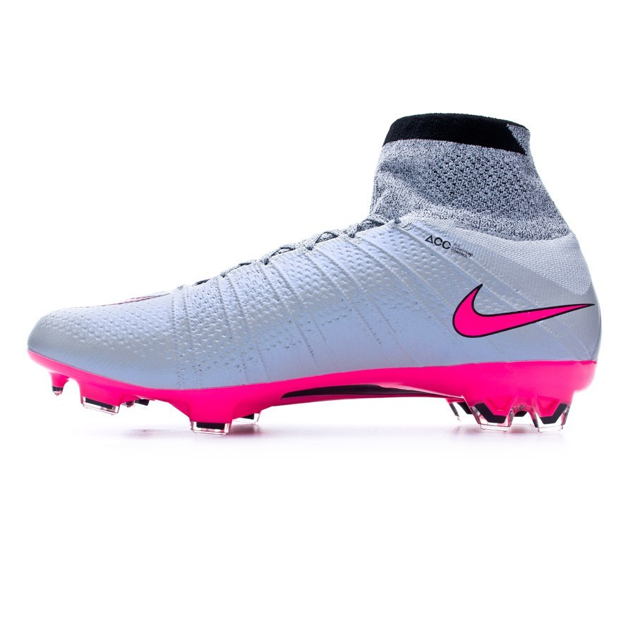 new style 7349d d8a75 Chaussure de foot Nike Mercurial Superfly ACC FG Wolf grey-Hyper pink-Black  - Boutique de football Fútbol Emotion