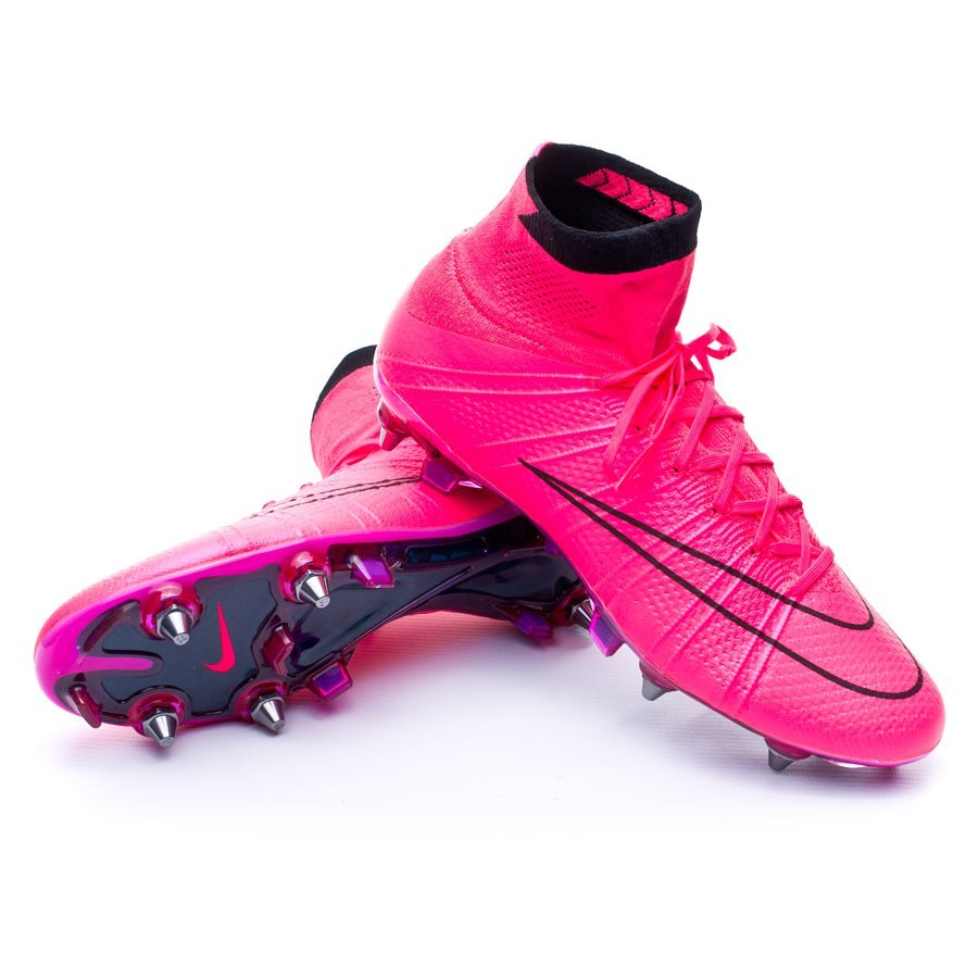 3744cfa9633a2 Football Boots Nike Mercurial Superfly ACC SG-Pro Hyper pink-Black ...