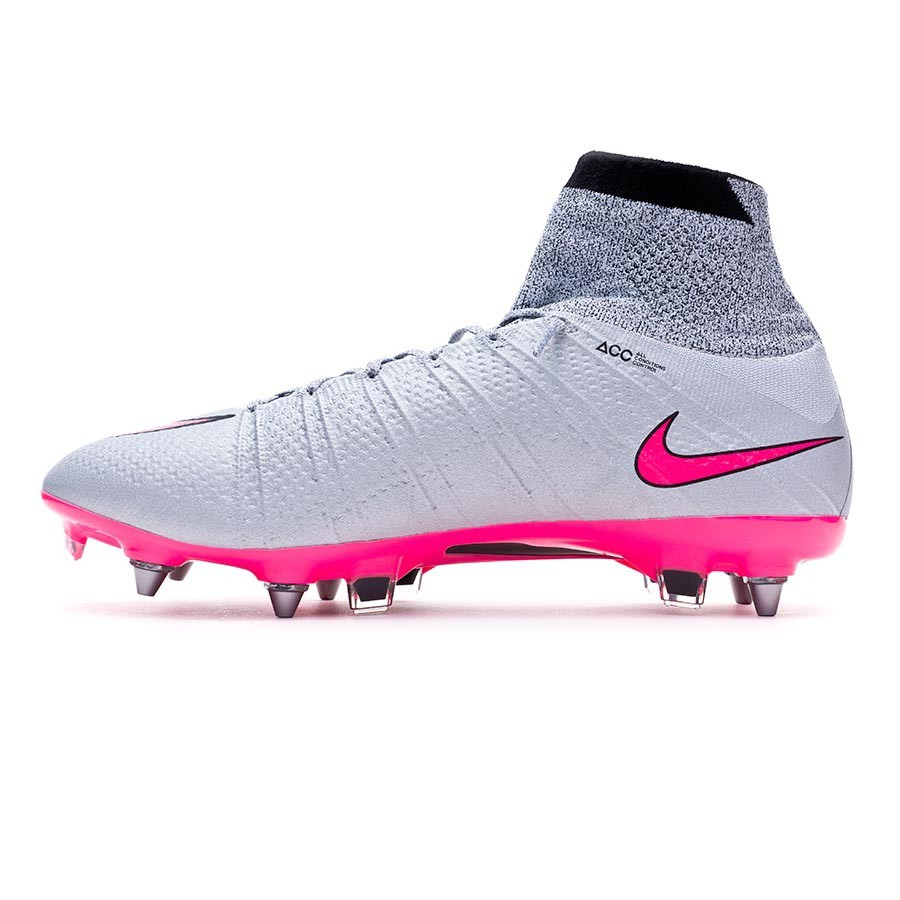 free shipping d84f3 56b03 Boot Nike Mercurial Superfly ACC SG-Pro Wolf grey-Hyper pink ...