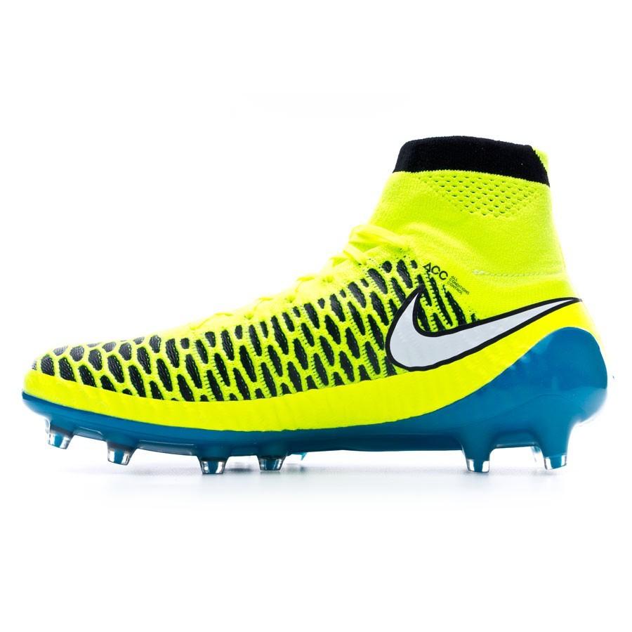 c9a0c476b599 Boot Nike Magista Obra Mujer ACC FG Volt-White-Blue lagoon-Black -  Soloporteros es ahora Fútbol Emotion