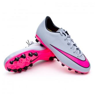 Chuteira  Nike Jr Mercurial Victory V AG Wolf grey-Hyper pink-Black