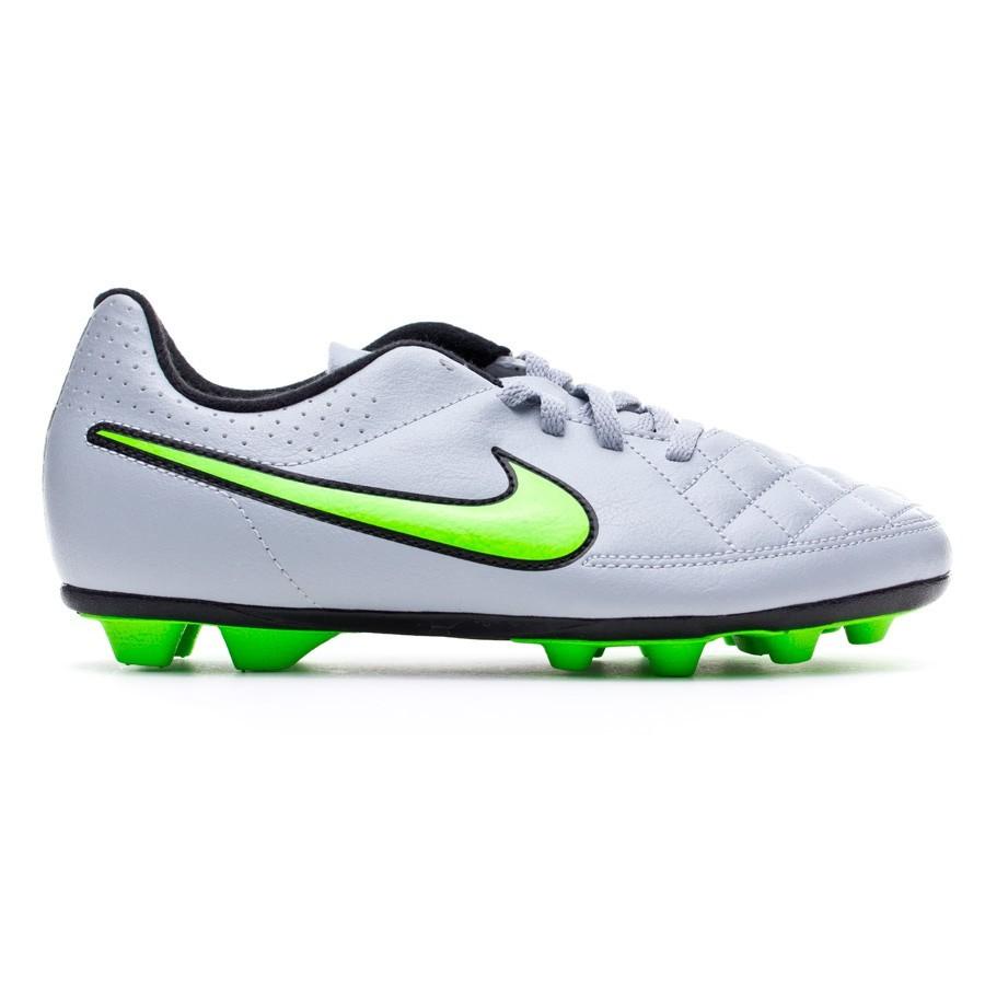 0890bd7c0e3e Football Boots Nike Jr Tiempo Rio II FG-R Wolf grey-Green strike-Black -  Football store Fútbol Emotion