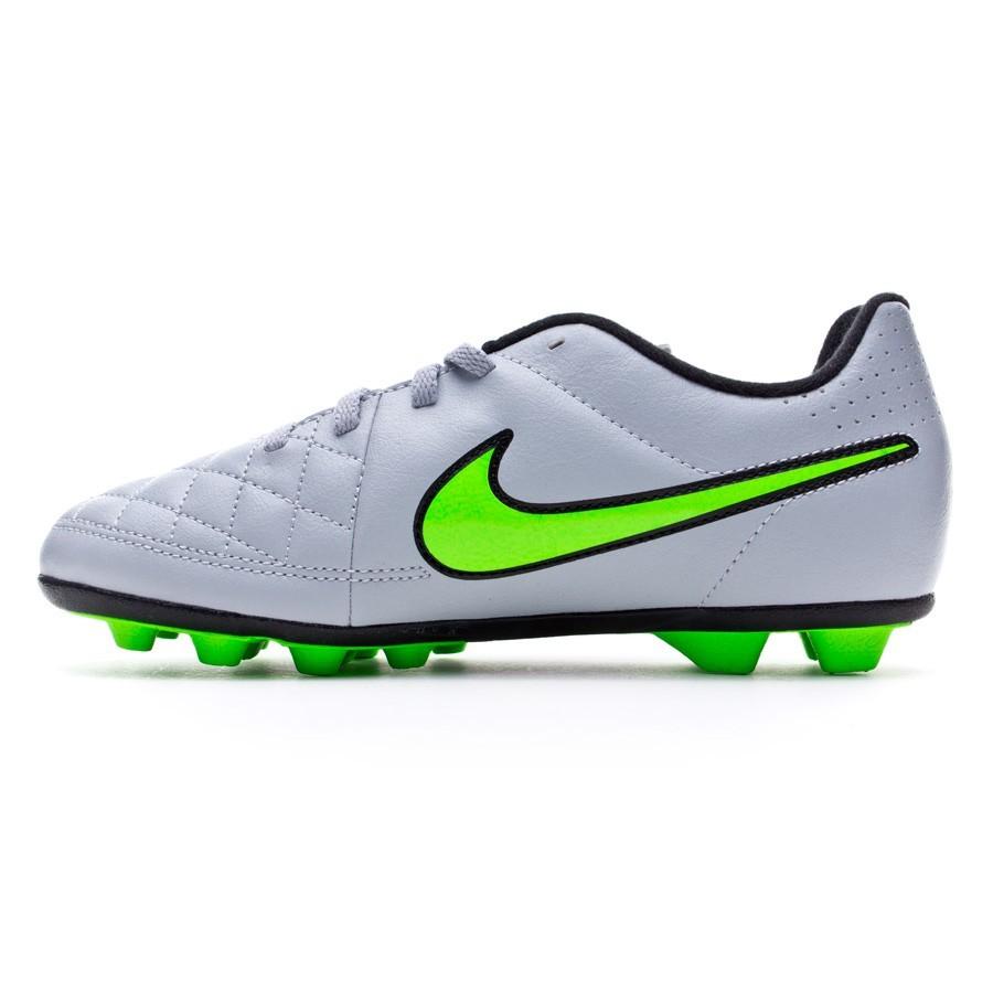 newest collection 0479f 085f6 Zapatos de fútbol Nike Tiempo Rio II FG-R Niño Wolf grey-Green strike-Black  - Soloporteros es ahora Fútbol Emotion