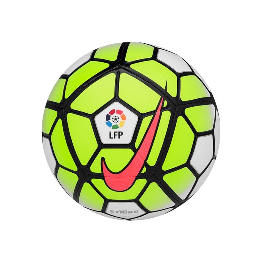58d6161be430d Balón Nike Strike LFP 2015-16 White-Volt-Black - Tienda de fútbol Fútbol  Emotion