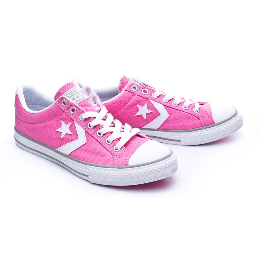 911f5deae6 Trainers Converse Jr Star Player Ox Chuck pink-White - Football ...