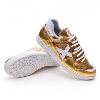 Zapatilla  Munich Continental Exclusiva Paco Sedano Gold Edition Oro-Blanco