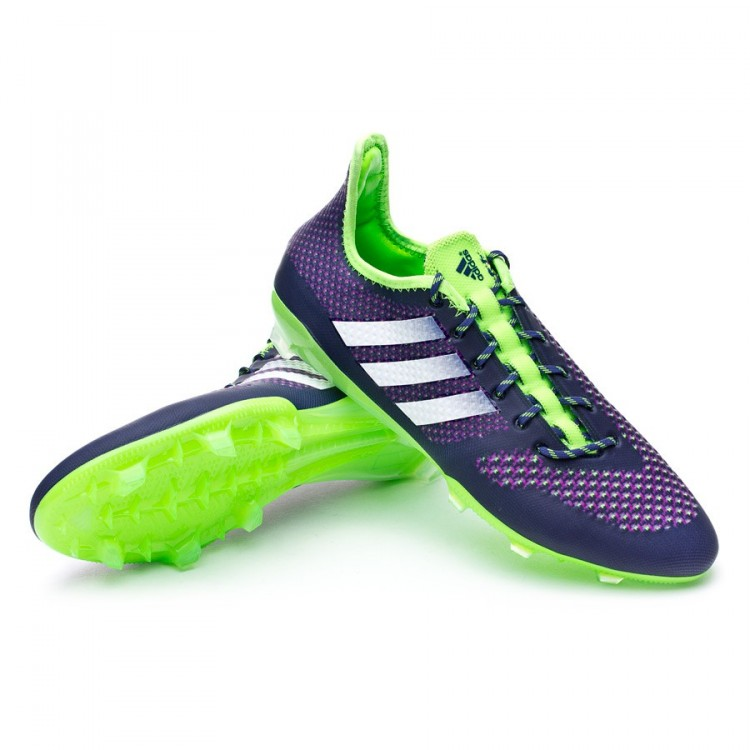 Boot adidas Primeknit 2.0 FG Night sky-White-Solar green - Football ... a006b8b7c5