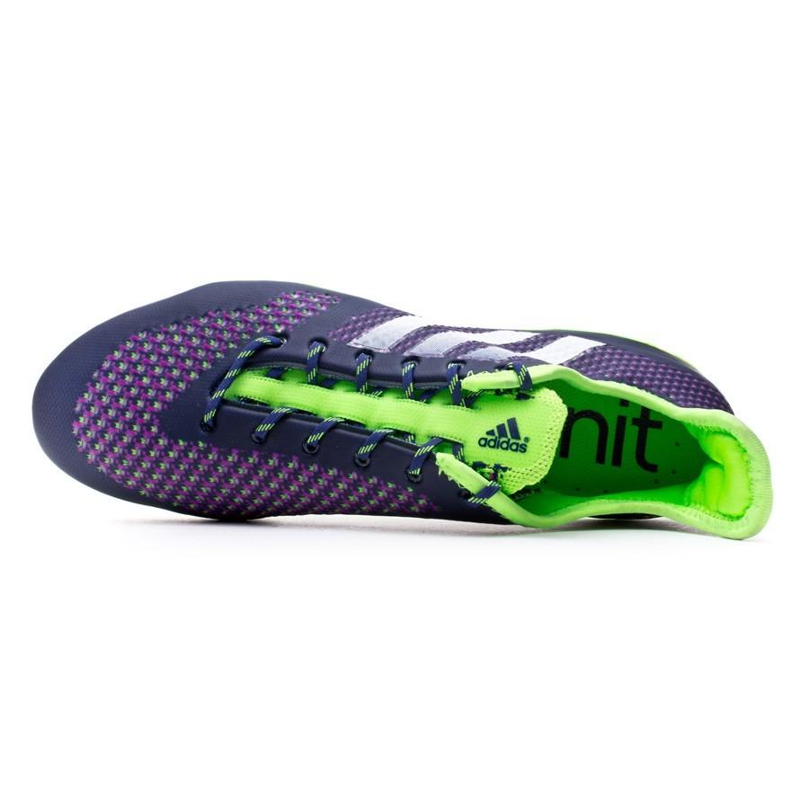 lower price with 51a54 fa52d Chaussure de foot adidas Primeknit 2.0 FG Night sky-White-Solar green -  Boutique de football Fútbol Emotion