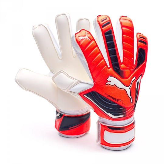 Guante  Puma evoPOWER Grip 2 RC White-Fiery coral-Total eclipse