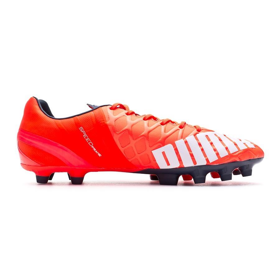 39714e366e39 Football Boots Puma evoSPEED 1.4 AG Lava blast-White-Total eclipse - Tienda  de fútbol Fútbol Emotion