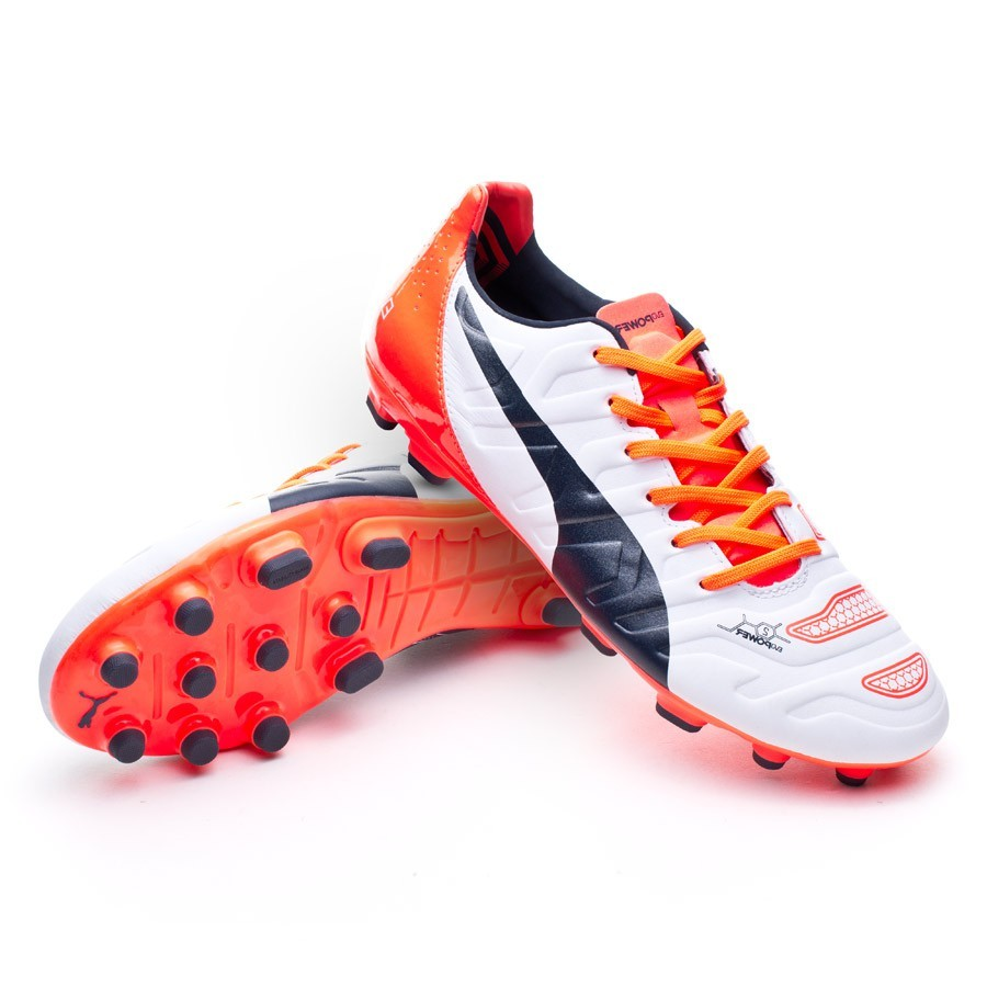 a97d65fbdf5 Boot Puma evoPOWER 2.2 AG White-Total eclipse-Lava blast - Football store  Fútbol Emotion
