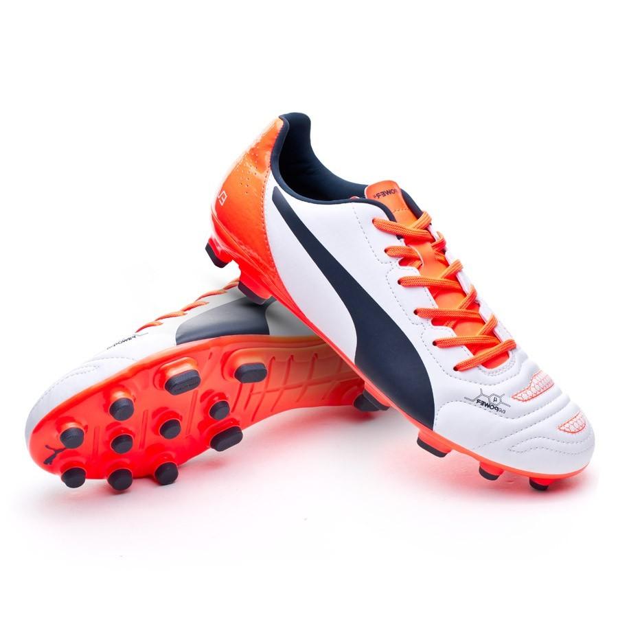 4955fd4d7 Football Boots Puma evoPOWER 4.2 AG White-Total eclipse-Lava blast ...
