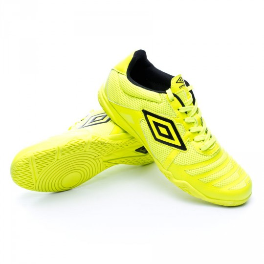 Chaussure de futsal  Umbro Vision League 4 Safety yellow-Black