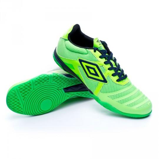 Zapatilla de fútbol sala  Umbro Vision League 4 Green gecko-Dark navy