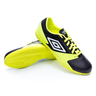 Zapatilla de fútbol sala  Umbro Futsal Street 4 Black-White-Safety yellow