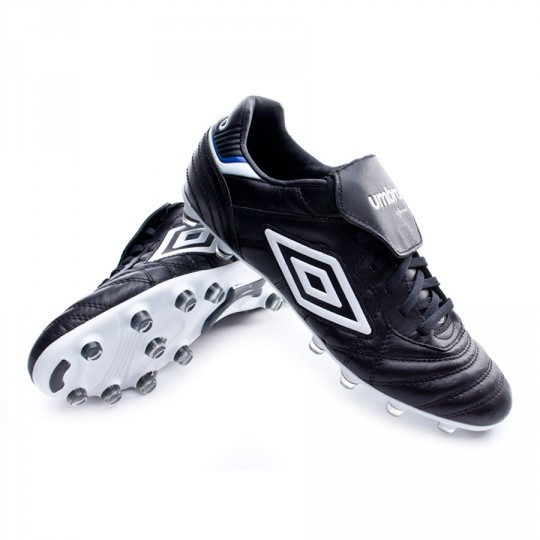 Football Boots Umbro Speciali Eternal Pro HG Black White Clematis blue