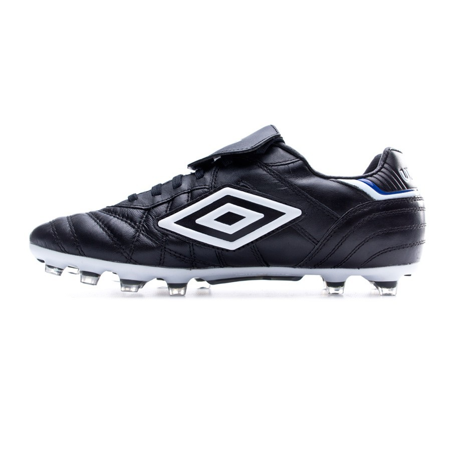 c071a7632 Football Boots Umbro Speciali Eternal Pro HG Black-White-Clematis blue -  Football store Fútbol Emotion