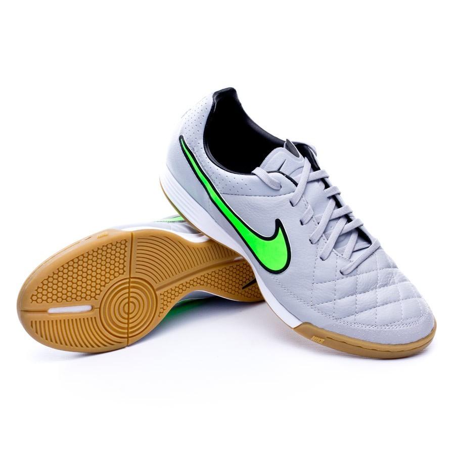 981f613099b25 Futsal Boot Nike Tiempo Legacy IC Wolf grey-Green strike-Black ...
