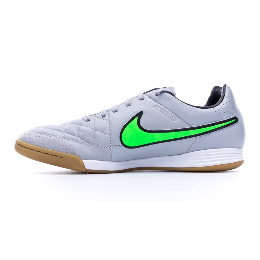 2ffd8ca5acce9 Futsal Boot Nike Tiempo Legacy IC Wolf grey-Green strike-Black - Football  store Fútbol Emotion