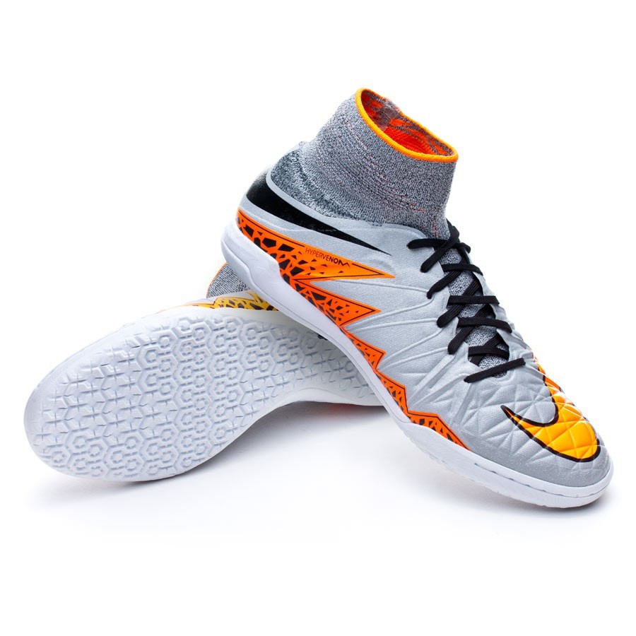 Zapatilla Nike HypervenomX Proximo IC Wolf grey-Total orange-Black ...