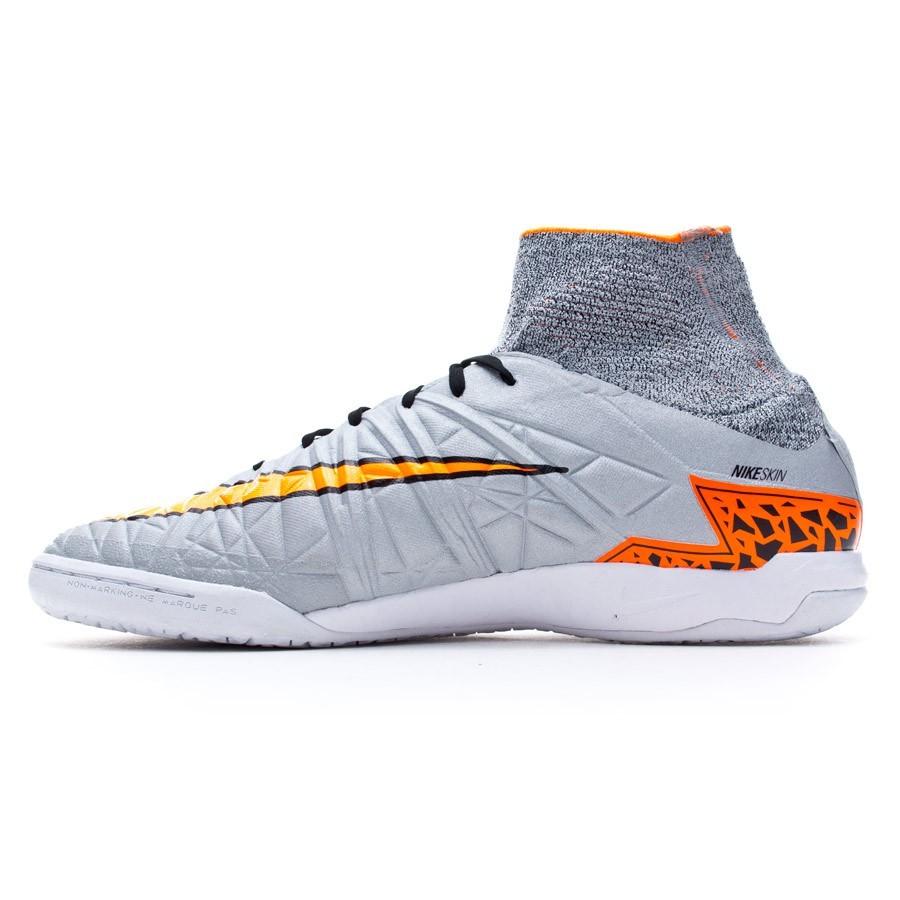 9d1e4eeee Futsal Boot Nike HypervenomX Proximo IC Wolf grey-Total orange-Black -  Football store Fútbol Emotion