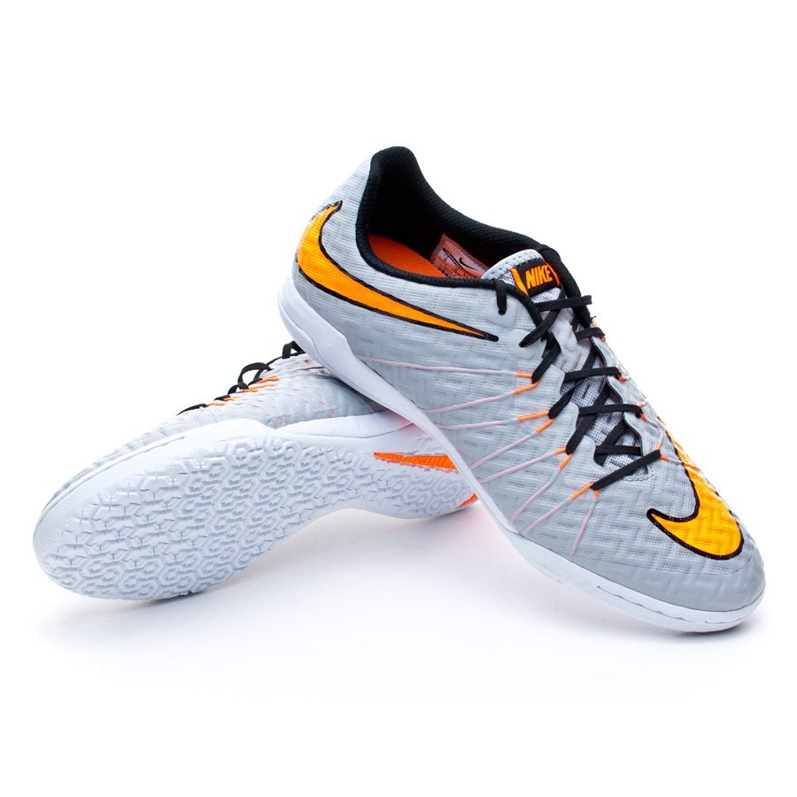 b9fa63eaf9350 Tenis Nike HypervenomX Finale IC Wolf grey-Total orange-White - Tienda de fútbol  Fútbol Emotion