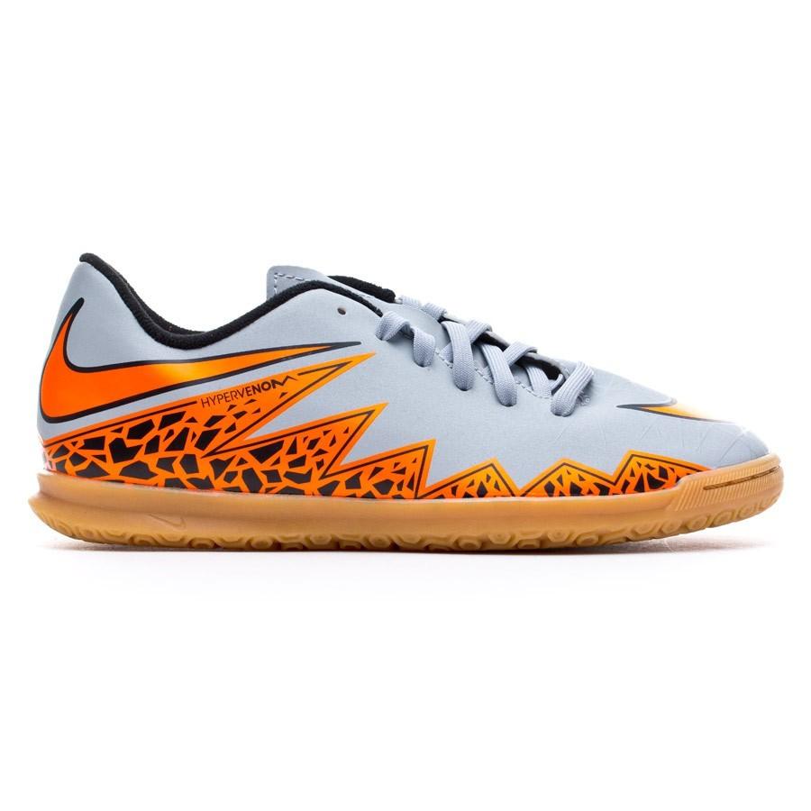 classic fit 6b893 cae4d Zapatilla Nike Hypervenom Phade II IC Niño Wolf grey-Total orange-Black -  Soloporteros es ahora Fútbol Emotion